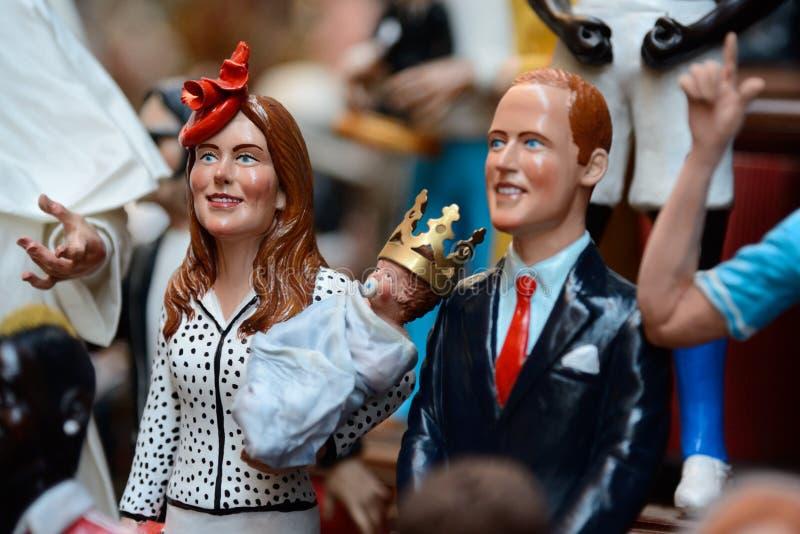 Marionnettes célèbres par Naples photo stock
