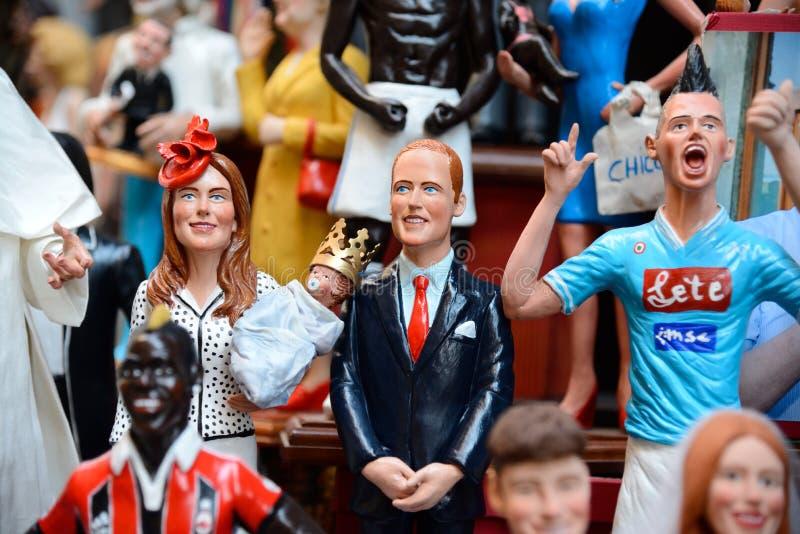 Marionnettes célèbres par Naples photo libre de droits