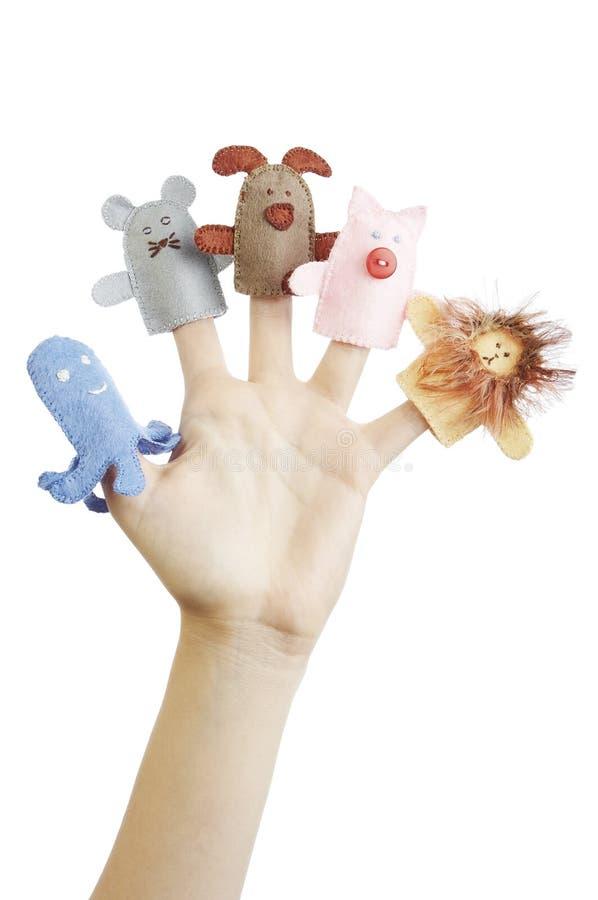 Marionnettes de doigt photo libre de droits