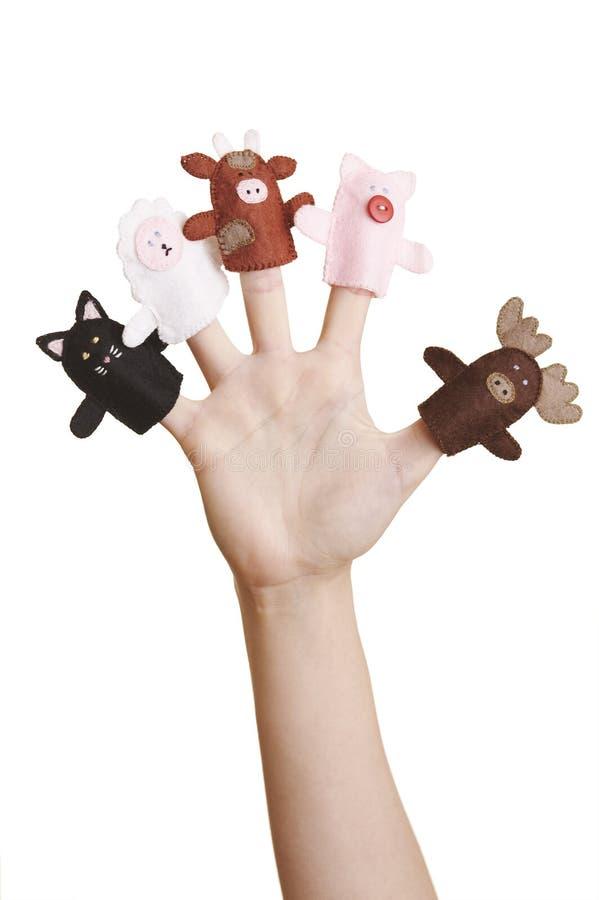 Marionnettes de doigt images stock