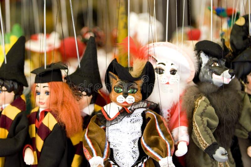 Marionnettes de Prague images stock