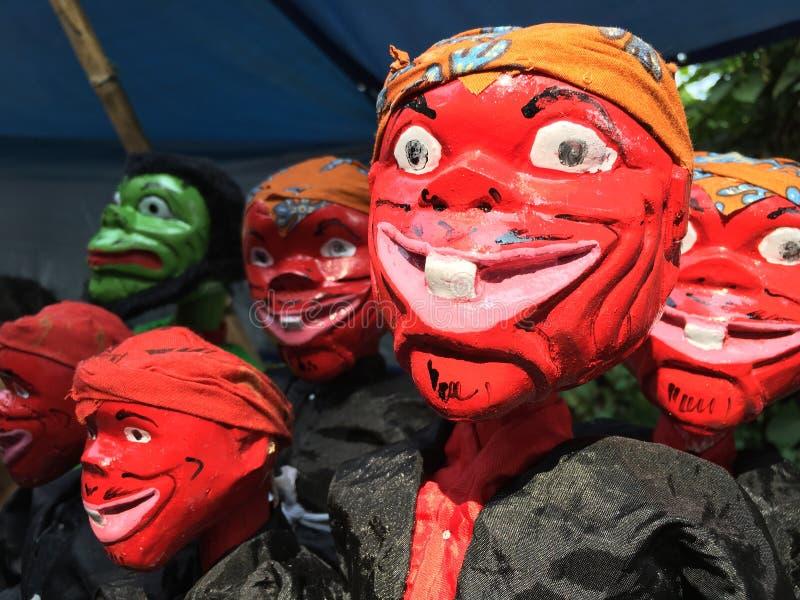 Marionnettes indonésiennes photo libre de droits