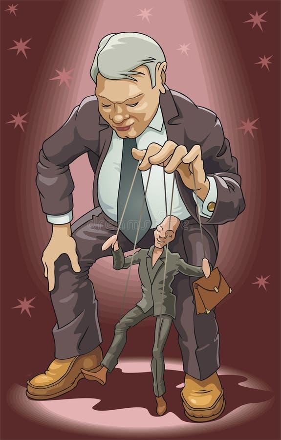 Marionnettiste illustration de vecteur