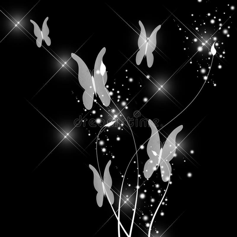 Mariposa abstracta del encanto ilustración del vector