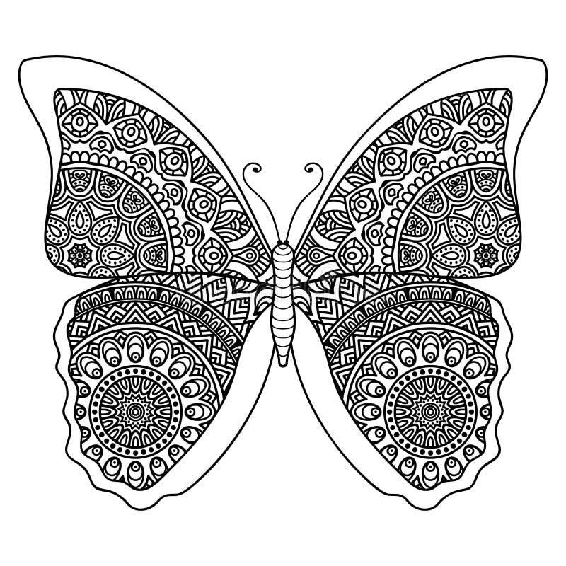 Mariposa abstracta del vector ilustración del vector