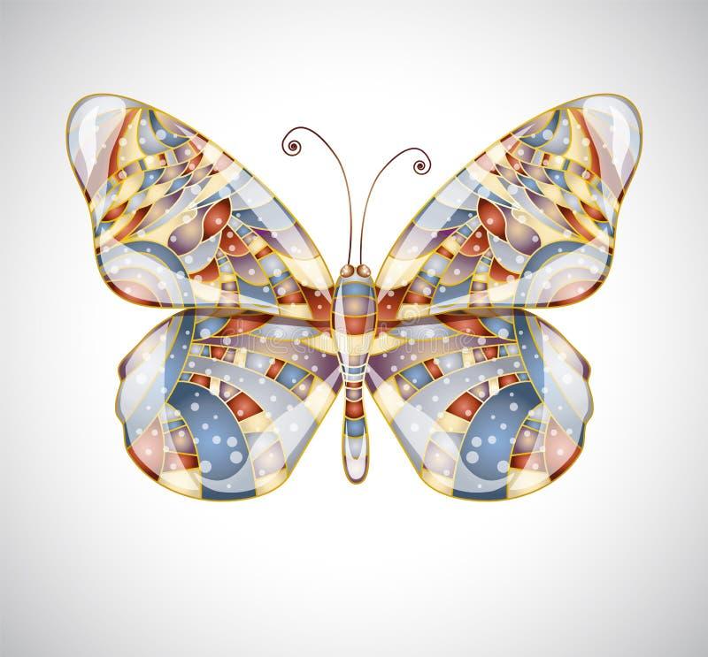 Mariposa abstracta hermosa. ilustración del vector