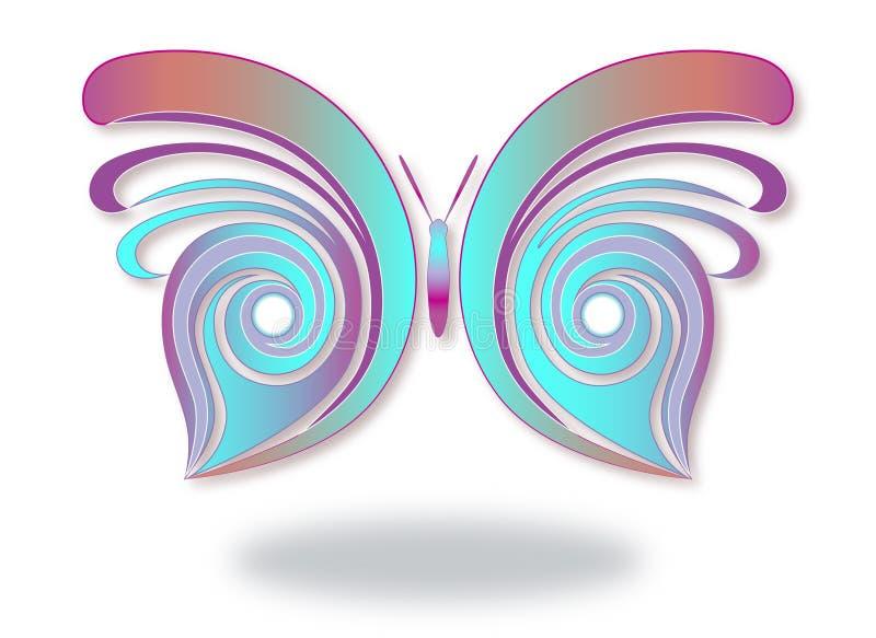 Mariposa abstracta y colorida foto de archivo