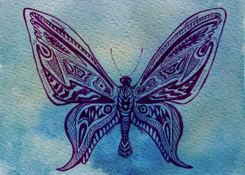 Mariposa. Acuarela stock de ilustración