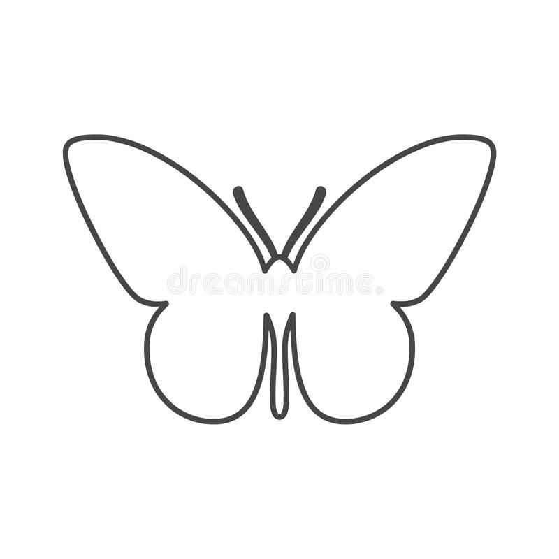 Mariposa aislada en el fondo blanco stock de ilustración