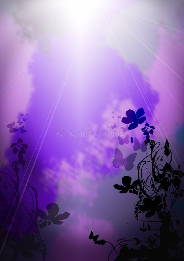 Mariposa al cielo stock de ilustración