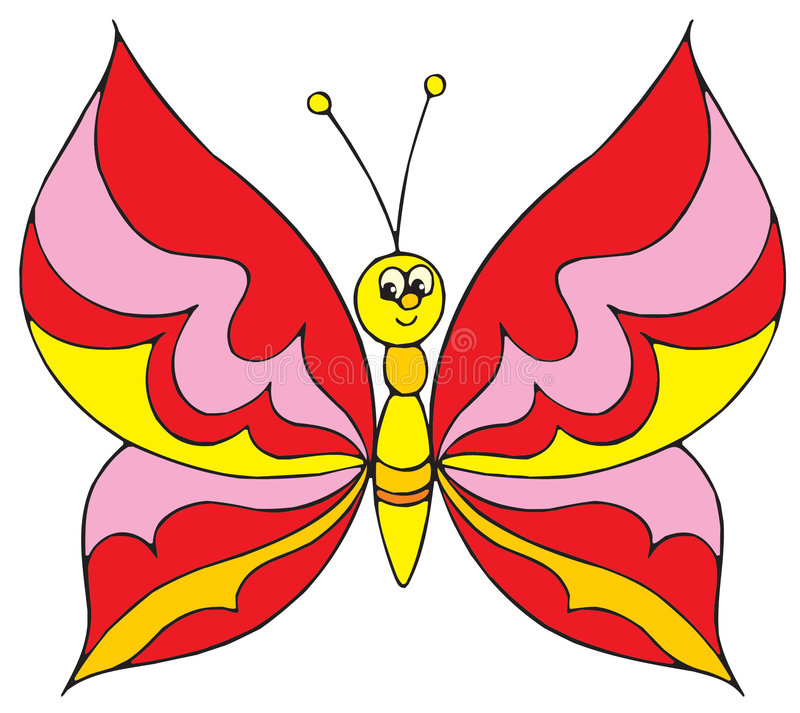 Mariposa (clip-arte del vector) libre illustration