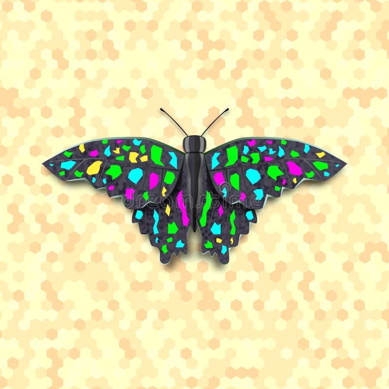 Mariposa coloreada ejemplo del vector libre illustration