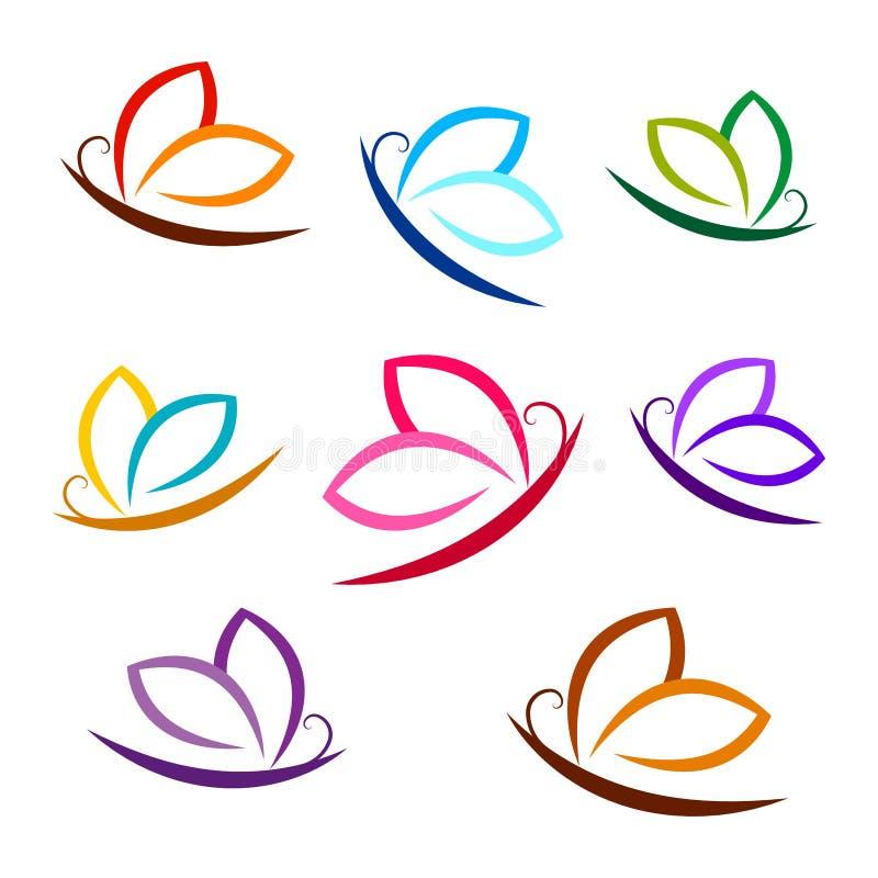 Mariposa, colorida, logotipo, sistema del vector libre illustration