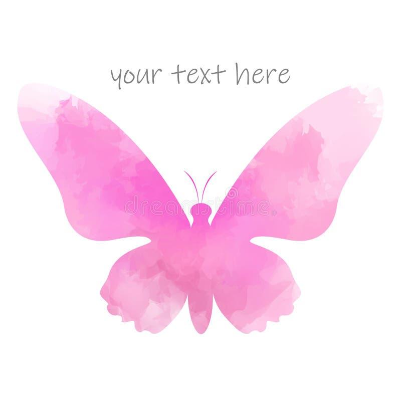 Mariposa de la acuarela aislada en el fondo blanco, diseño del logotipo libre illustration