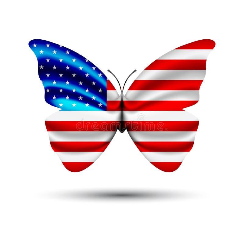 Mariposa de la bandera de los E.E.U.U. libre illustration