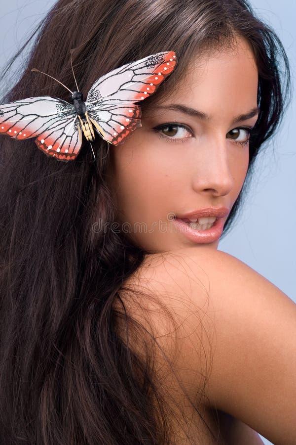 Mariposa de la mujer imagen de archivo