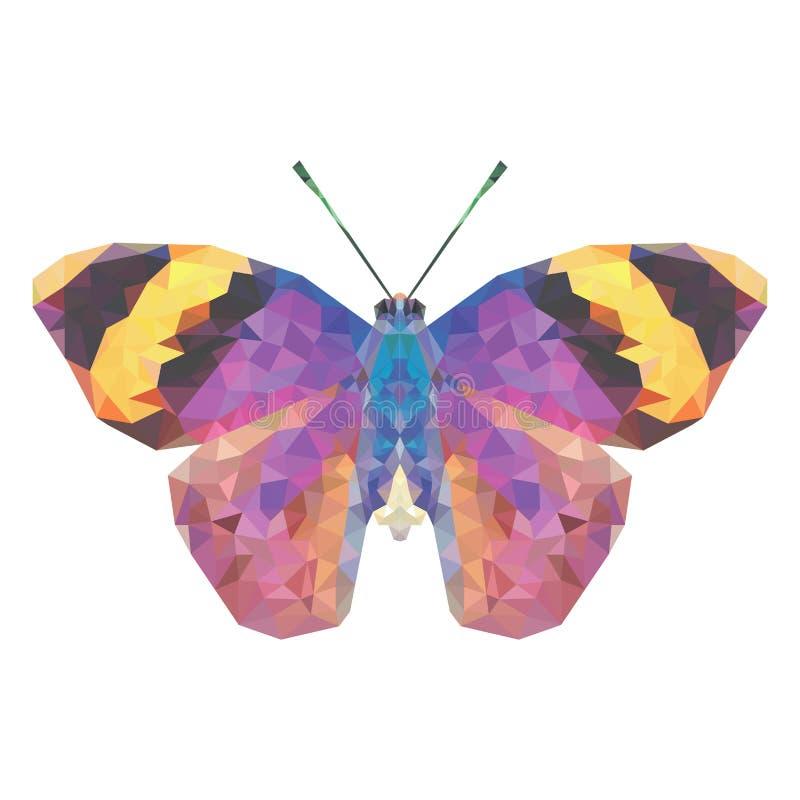 Mariposa de Minimalistic en estilo polivinílico bajo foto de archivo libre de regalías