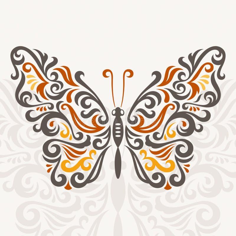 Mariposa abstracta stock de ilustración