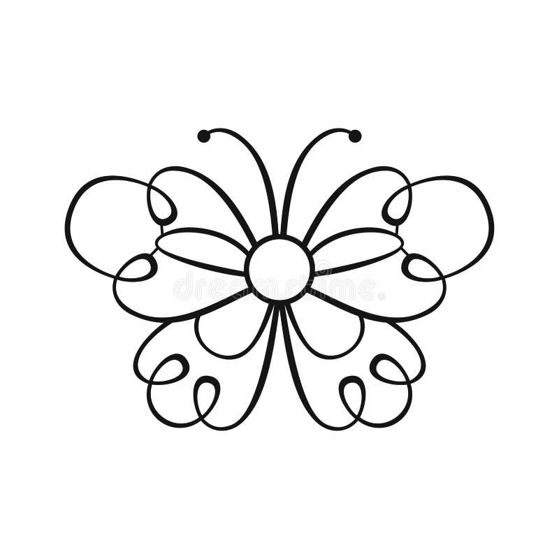 Mariposa del cord?n Elemento del diseño del vector para la decoración ilustración del vector