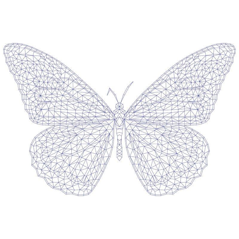 Mariposa Del Mosaico Para Colorear Y El Diseño Ilustración del ...