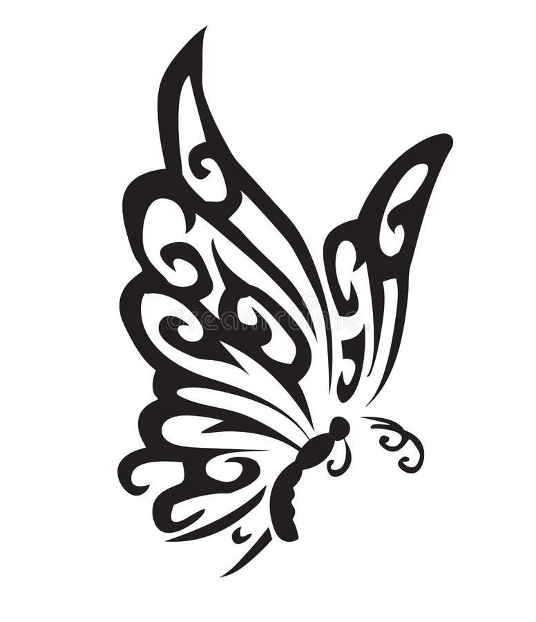 Mariposa del vector stock de ilustración