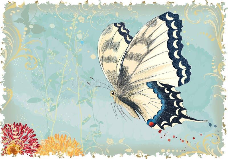 Mariposa del vuelo stock de ilustración