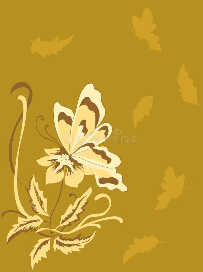 Mariposa en la flor libre illustration
