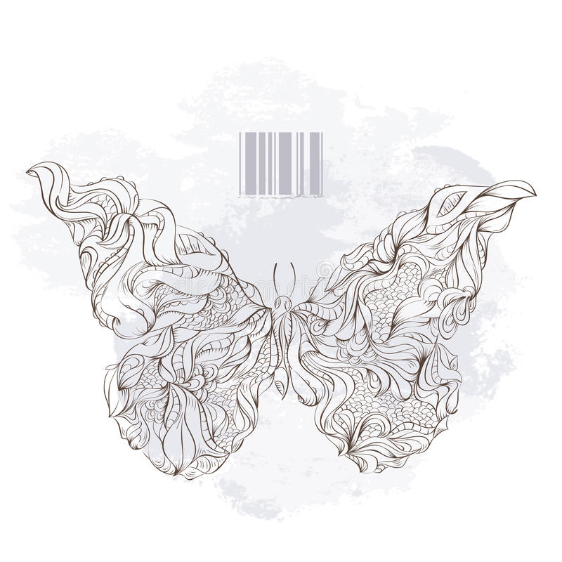 Mariposa extraña stock de ilustración