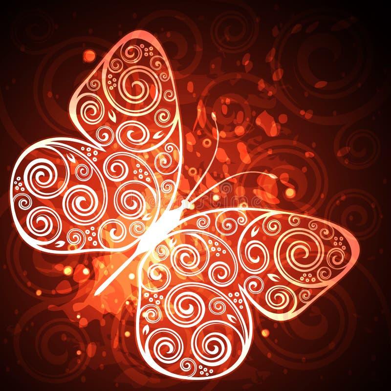 Download Mariposa floral ilustración del vector. Ilustración de ramificación - 41907025