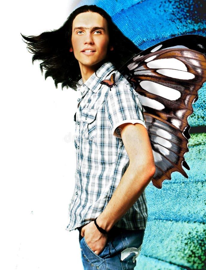 Mariposa-hombre fotos de archivo
