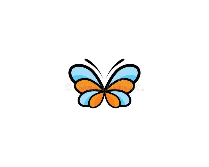 Mariposa Logo Template ilustración del vector