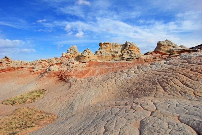 Mariposa, una formación de roca en el bolsillo blanco, motas CBS del sur, desierto bermellón de los acantilados del barranco de P foto de archivo