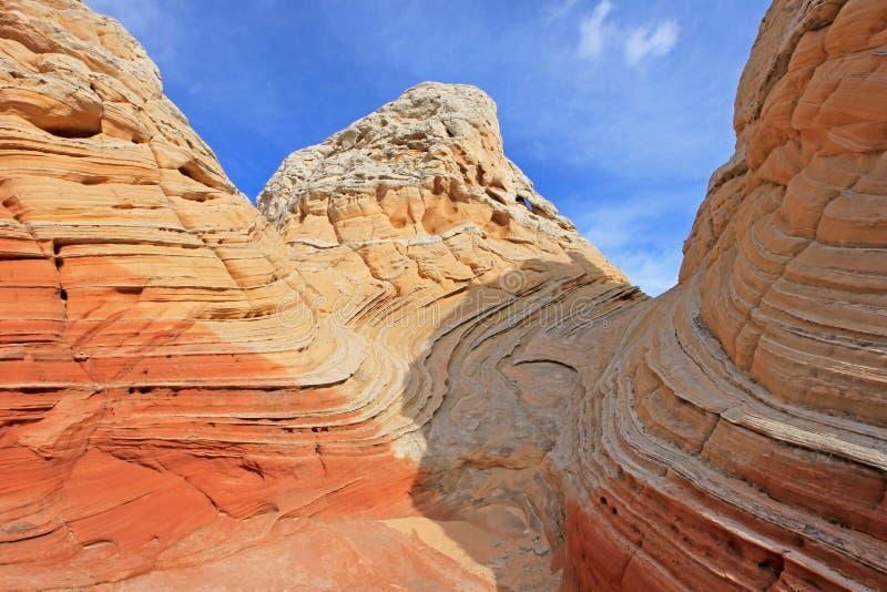 Mariposa, una formación de roca en el bolsillo blanco, motas CBS del sur, desierto bermellón de los acantilados del barranco de P imagen de archivo