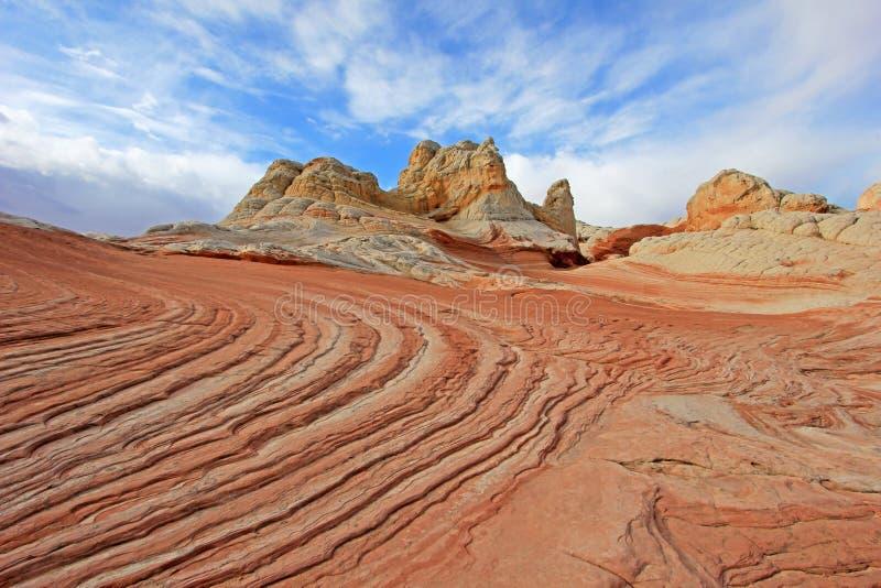 Mariposa, una formación de roca en el bolsillo blanco, motas CBS del sur, desierto bermellón de los acantilados del barranco de P fotografía de archivo libre de regalías