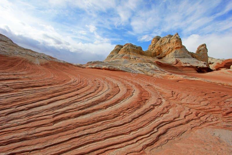 Mariposa, una formación de roca en el bolsillo blanco, motas CBS del sur, desierto bermellón de los acantilados del barranco de P foto de archivo libre de regalías