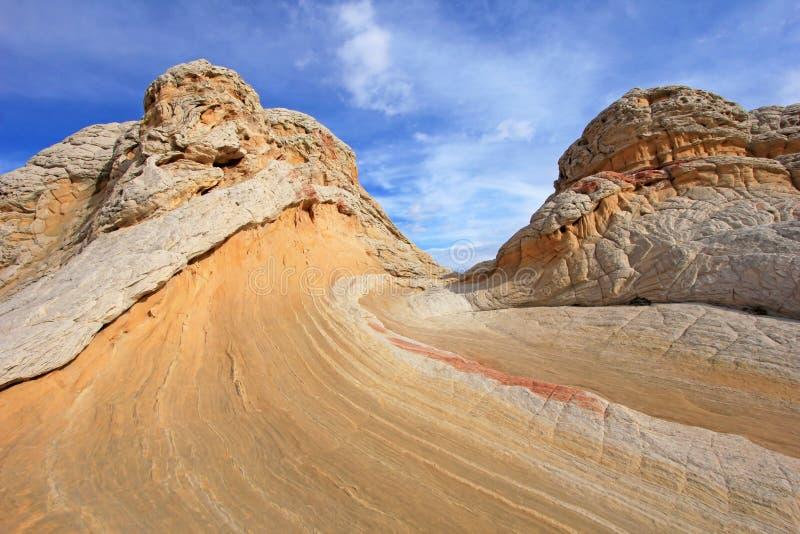 Mariposa, una formación de roca en el bolsillo blanco, motas CBS del sur, desierto bermellón de los acantilados del barranco de P imagenes de archivo