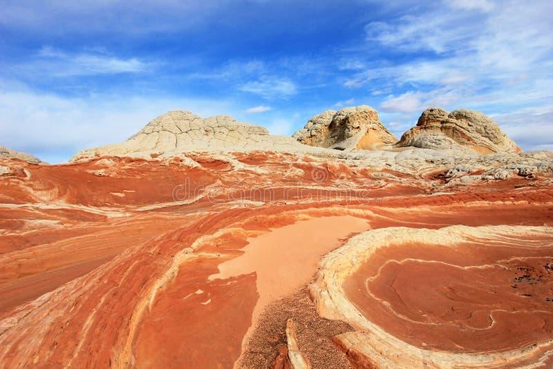 Mariposa, una formación de roca en el bolsillo blanco, motas CBS del sur, desierto bermellón de los acantilados del barranco de P fotos de archivo libres de regalías