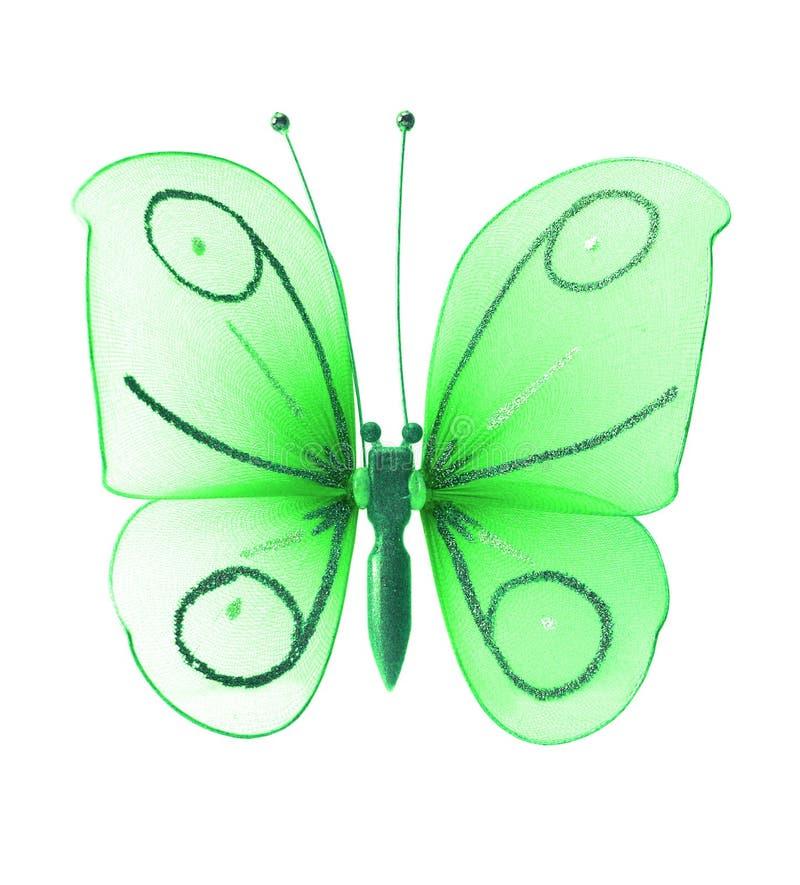 Mariposa verde artificial fotos de archivo libres de regalías