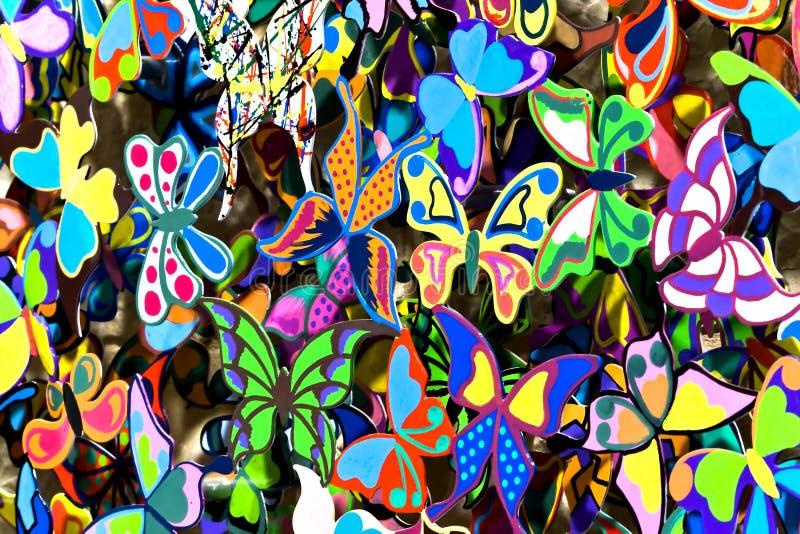 Mariposas de ?oloured imagenes de archivo