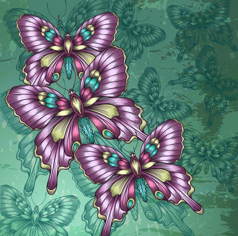 Mariposas decorativas ilustración del vector