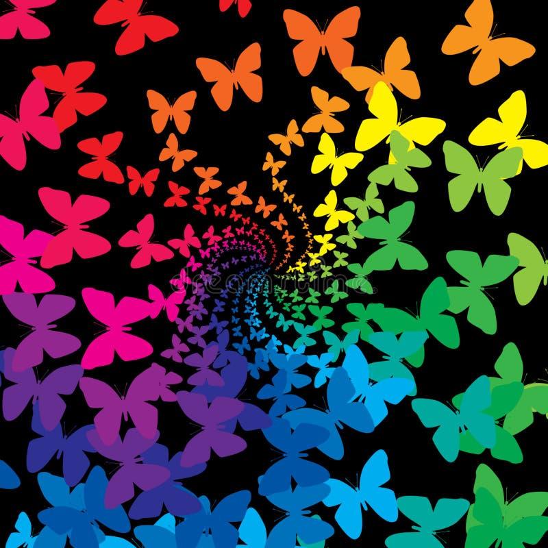 Mariposas del arco iris stock de ilustración