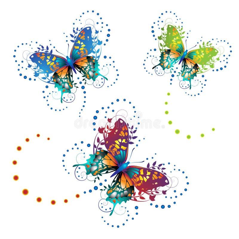 Mariposas estilizadas stock de ilustración