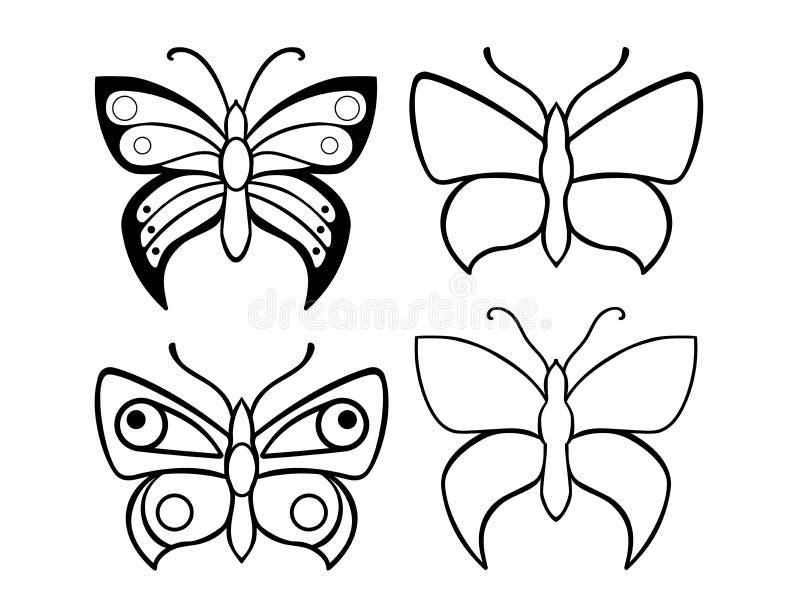 Mariposas Un Sistema De Plantillas De La Mariposa Mariposas