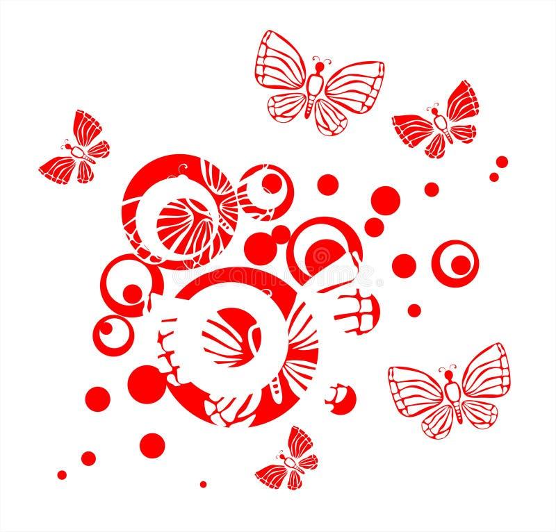 Mariposas y círculos libre illustration