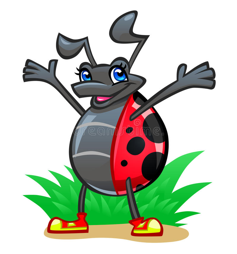 Download Mariquita alegre ilustración del vector. Ilustración de cubo - 42431347