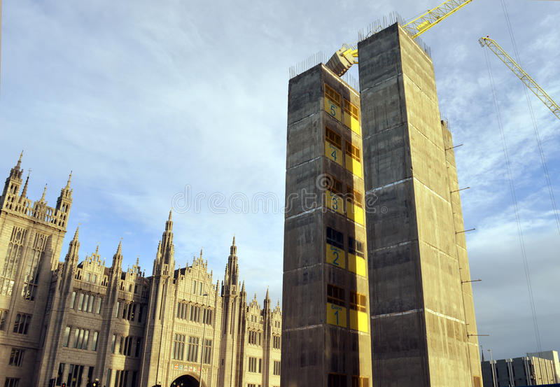 Marischal广场发展,阿伯丁,苏格兰 免版税图库摄影