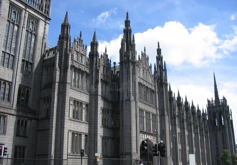 Marischal College Aberdeen stock image