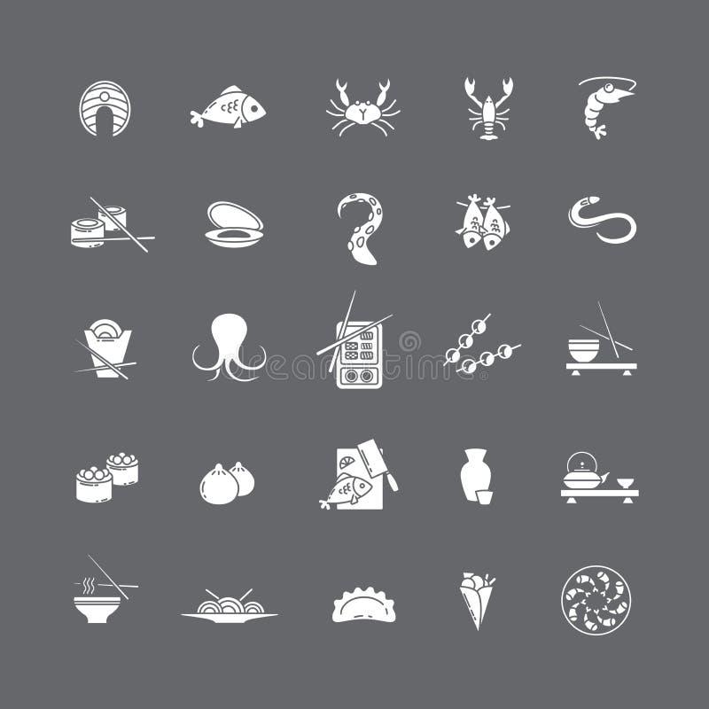 Marisco branco dos ícones ilustração do vetor