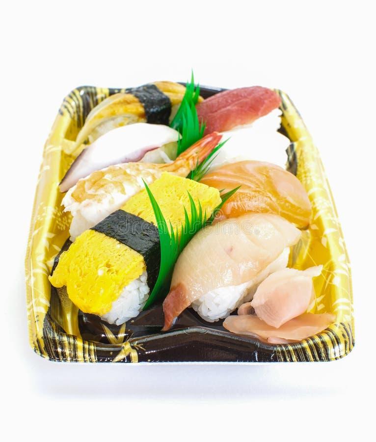 Marisco cru do sushi japonês imagens de stock royalty free