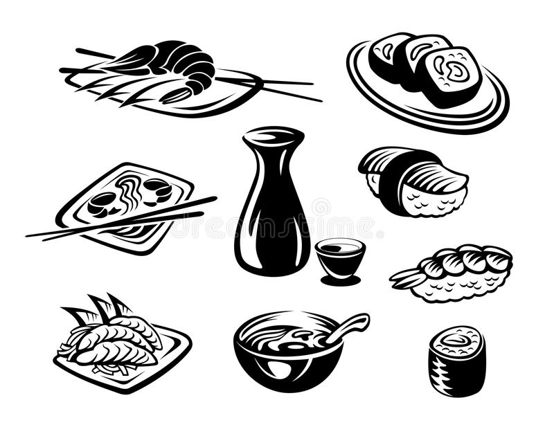 Marisco de Japão ilustração stock